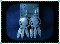 Pewter Indian Head Earrings