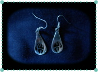 Pewter Bear Paw Earrings