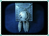 Pewter Indian Head Necklace